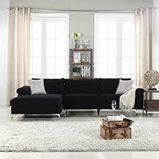 Modern Fabric Sectional Sofas Modern Large Velvet Fabric Sectional Sofa L Shape