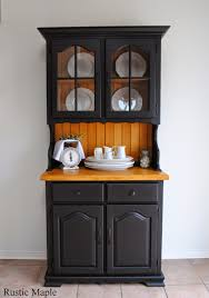 Hutch Buffet by Oak Buffet And Hutch With Fusion Mineral Paint In Coal Black