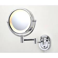 lighted travel makeup mirror 15x lighted travel makeup mirror 15x led lighted wall mirror in chrome