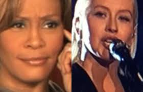 Christina Aguilera Meme - christina aguilera honors whitney houston at amas twitter drags