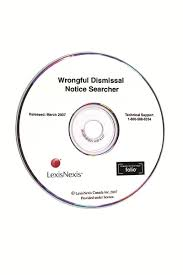 lexisnexis advance quicklaw wrongful dismissal notice searcher lexisnexis canada store