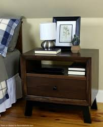 Free Solid Wood Dresser Plans by Remodelaholic Diy Chunky Solid Wood Nightstand Tutorial