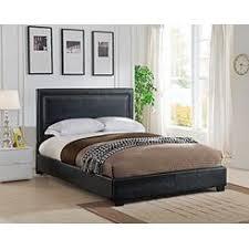 Black Leather Platform Bed Oxford Creek Black Faux Leather Size Platform Bed