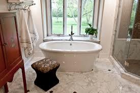 interior calacatta marble floor for bathroom with bathtub and
