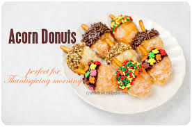 thanksgiving breakfast treat two ideas acorn donuts and