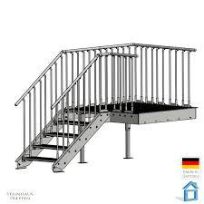 steinhaus treppen stahl podest mit außentreppe feuerverzinkt din gitterrost stufen