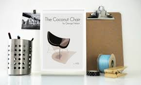 art print poster the coconut chair by george nelson mod retro