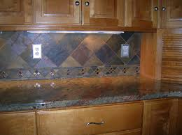 Rusty Brown Slate Mosaic Backsplash by Slate Tile Backsplash Kitchen Cabinet Hardware Room Perfect