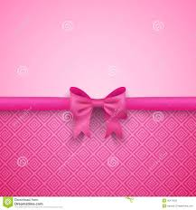 romantic vector pink background with cute bow and stock