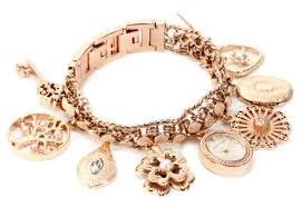 rose gold bracelet charm images Ak anne klein women 39 s 10 8096rgch swarovski crystal accented jpg