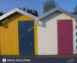 beach cabins color colour different colors neuchatel small houses