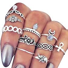 knuckle rings images White label vintage knuckle rings set 10 pieces silver jumia ghana jpg