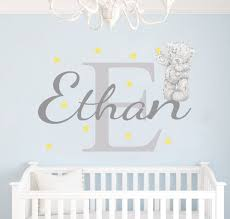personalised tatty teddy name wall sticker by eydecals tatty teddy name wall sticker