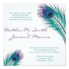 peacock wedding invitations the peacock wedding invitation zazzle