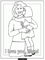 mothers cards color print coloring