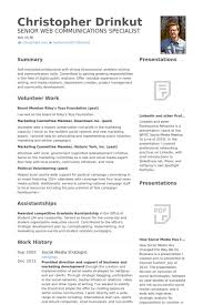 Social Media Resume Template Social Media Strategist Resume Samples Visualcv Resume Samples