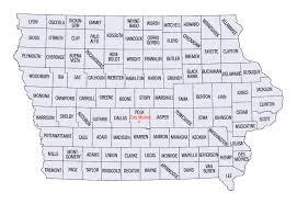 iowa map with cities iowa county map