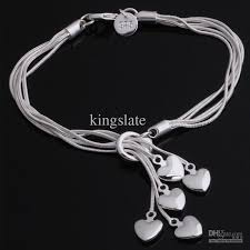 bracelet chain heart silver images 2018 high quality beautiful hot 925 silver fashion jewelry charm jpg