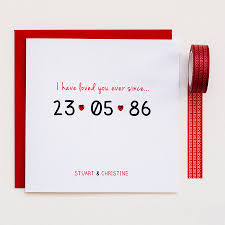anniversary card personalised special date anniversary card by thispaperbook