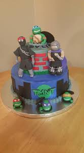 tmnt cake topper tmnt with foot clan and shredder cakecentral