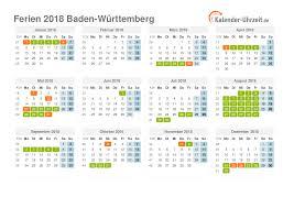 Ferienkalender 2018 Bw Ferien Baden Württemberg 2018 Ferienkalender Zum Ausdrucken