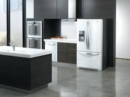 Modern Kitchen With White Appliances Impressive Kitchen With White Appliances Stylish Modern Kitchen