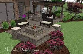 My Patio Design Pit Patio Design With Pergola Downloadable Patio Plan