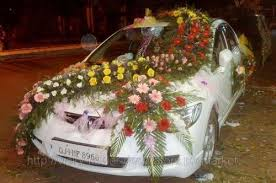 How To Decorate A Wedding Car With Flowers Car Flower Decoration Images Decorative Flowers