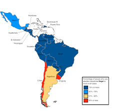 Latin America Map Countries by Latin American Countries By Percentage Of People Against Abortion