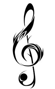treble clef tattoo tribal tattoo design clipart best