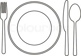 kitchen forks and knives dinner plate template kays makehauk co