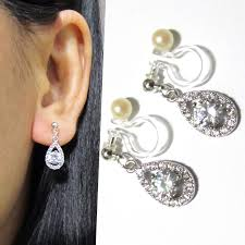 earrings for thick earlobes wedding clip on earrings that are comfy to wear for many hours