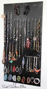 jewellery necklace storage images Diy peg board jewelry holder pinterest jewellery holder jpg