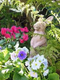 an angel in the garden the dog house and the fairy garden