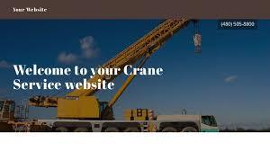 crane service website templates godaddy