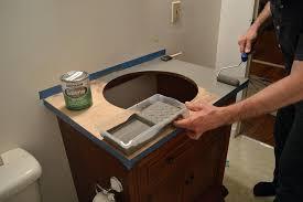 Diy Vanity Top Redo Bathroom Vanity Countertop Counter Diy Resurface Bathroom