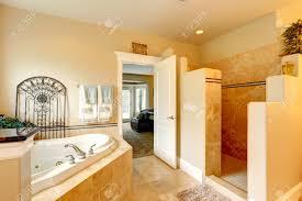 Open Bedroom Bathroom by Luxury Bathroom In Master Bedroom Bathroom Has A Whirlpool Tub