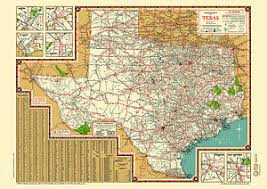 map of dallas fort worth road map 1940s map poster vintage dallas fort worth