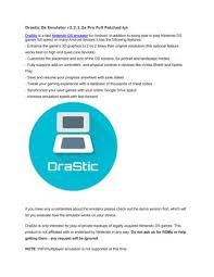 drastic ds emulator patched apk drastic ds emulator pro patched by itdaklak info issuu