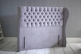 Free Standing Headboard Giovana Chesterfield Wing Floor Standing Headboard Bedworld At