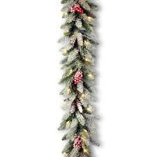snowy dunhill fir garland national tree company