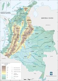 Columbia South America Map by Colombia Physical Map Cities