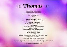thomas meaning of name