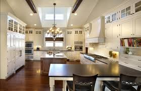 modern kitchen with white flat door panels haas cabinet black