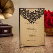 custom bridal shower invitations high class black vingtage wedding invitation cards flower laser