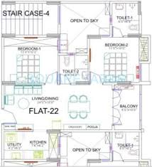 900 Sq Ft Apartment Floor Plan 2 Bhk 900 Sq Ft Apartment For Sale In Ramaniyam Marvel At Rs