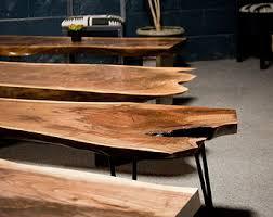 Rustic Walnut Coffee Table Cedar Blossom Custom Coffee Tables Live Edge Rustic Slab