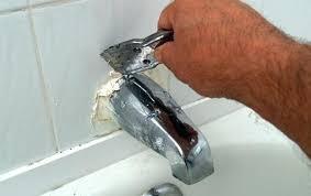 repair bathtub faucet tub faucet spout how to replace a tub spout bob bathtub faucet