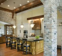 brick kitchen ideas engaging industrial brick kitchen with white bricks wall and