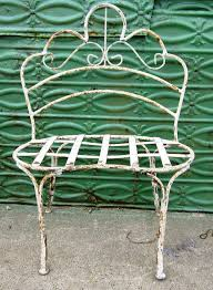 wrought iron small child u0027s curly bench metal seating
